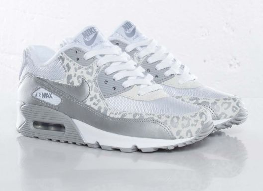 newest 1ff88 c8007 Womens Nike Air Max 90 Leopard Print WhiteSilver Shoes Pinterest Womens nike  air max, ...