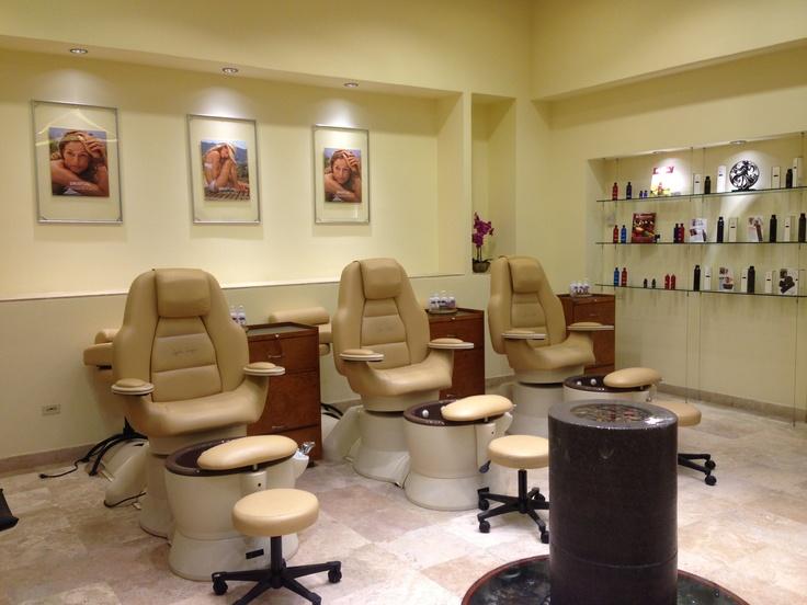 #Pedicure chairs at the beauty salon at #playagrandespa  #loscabos #spa @Mary Droogsma Hotels & Resorts