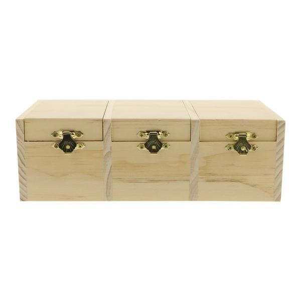 Triple Compartment Wood Box 95 In 2019 Diy Home Wood Boxes