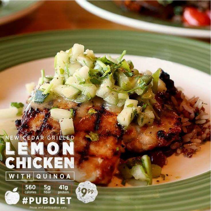 Cedar Grilled Lemon Chicken With Quinoa Applebee S