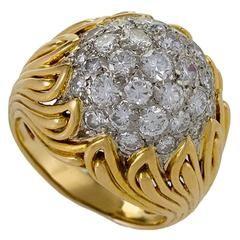 Van Cleef & Arpels Mid-20th Century Diamond and Gold Ring circa 1950