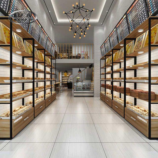 Source Bakery Grocery Store Used Steel Wood Bread Display Rack On M Alibaba Com