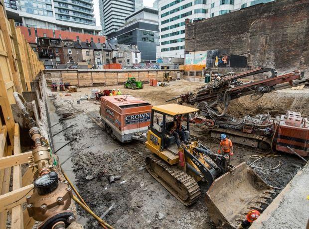 Digging deeper at 87 Peter Condos #construction #toronto