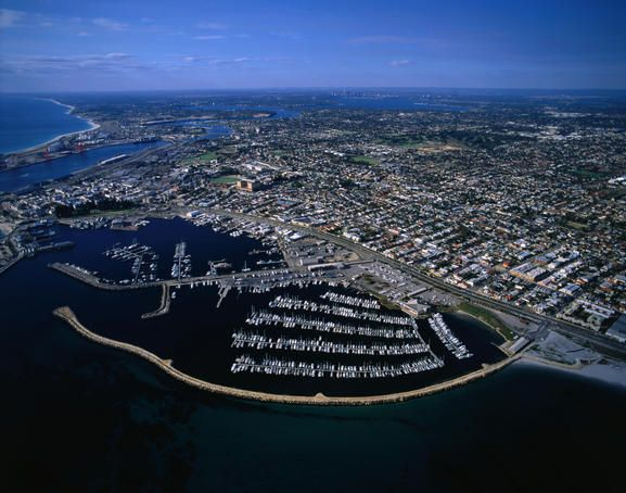 Fremantle, Perth's port, lies at the mouth of the Swan River, Western Australia