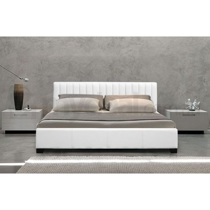 monaco queen size faux leather bed frame in white buy furniture