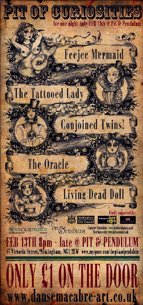 vintage circus poster sideshow freak show
