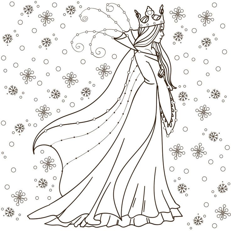 111 best images about coloriages princesses et reines on - Coloriage reine des neige a imprimer ...