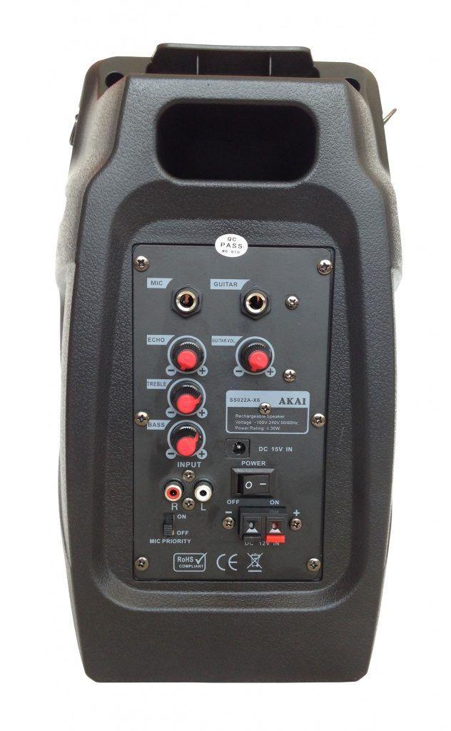 Boxa portabila Akai SS022A-X6 este special conceputa pentru cei care vor sa reproduca atmosfera unui concert in are liber. Vezi AICI review si pret!