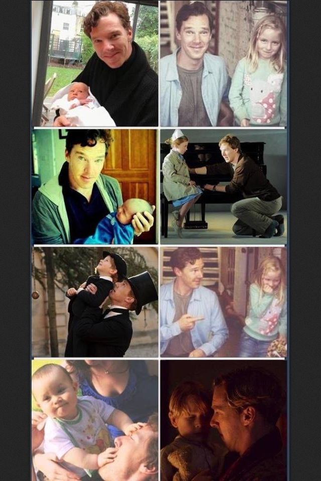 Benedict Cumberbatch with kids.... Just staph....I...can't ...