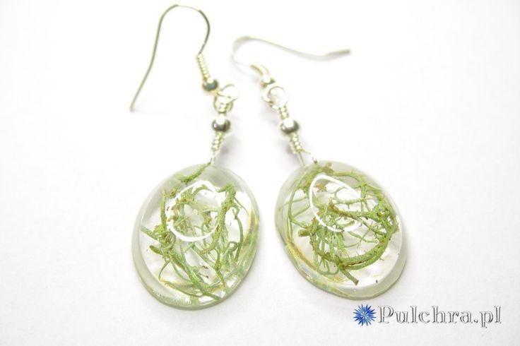 Kolczyki z żywicy z porostami / Resin earrings with lichens