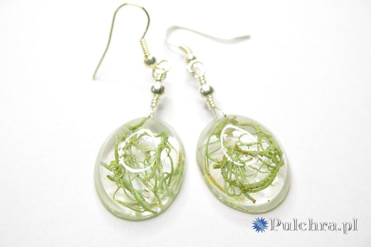 Kolczyki z żywicy z porostami / Resin earrings with lichens
