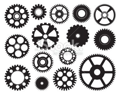 Mixed Gears Royalty Free Stock Vector Art Illustration