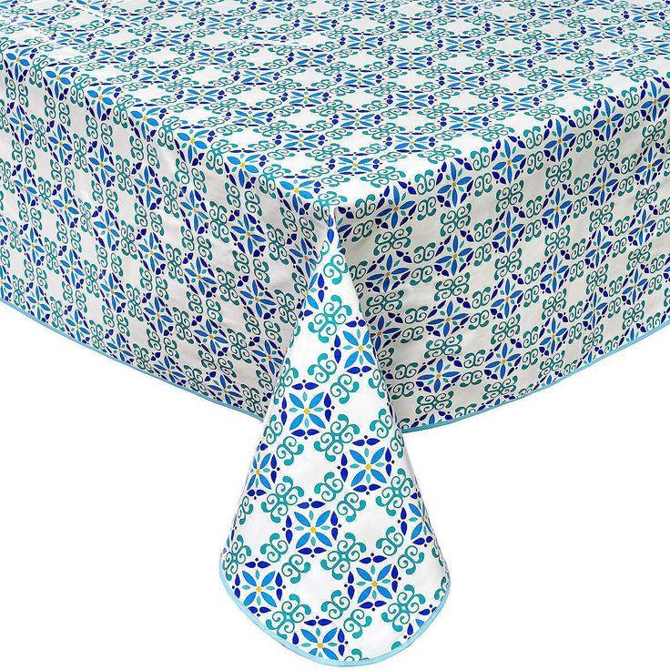 WATERPROOF Wachstischdecke Ornament    Tischdecken aus Stoff sind schön - aber draußen, bei Kindern und einen turbulentem Haushalt mit viel Arbeit verbunden. Einfacher geht's mit der pflegeleichten Variante aus PVC-beschichtetem Faserflies. Die Oberfläche ist wasserabweisend und mit einem feuchten Tuch im Handumdrehen zu reinigen. In verschiedenen Größen und Dekoren erhältlich.    Größe: ca. 15...