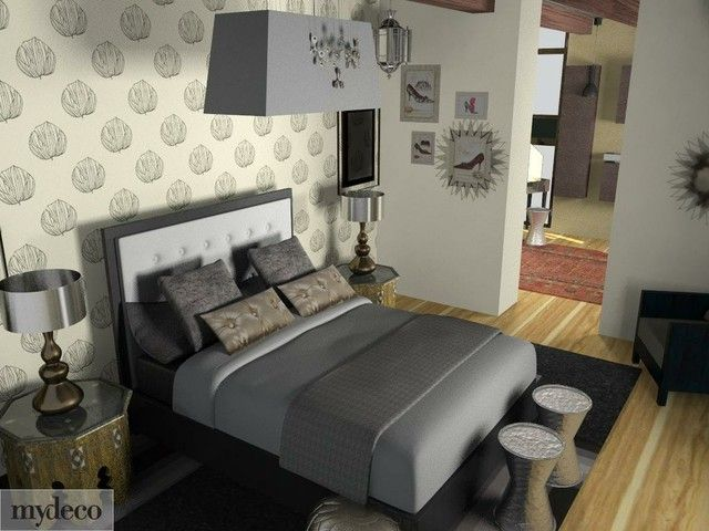 metallic earthy bedroom decor chic pinterest