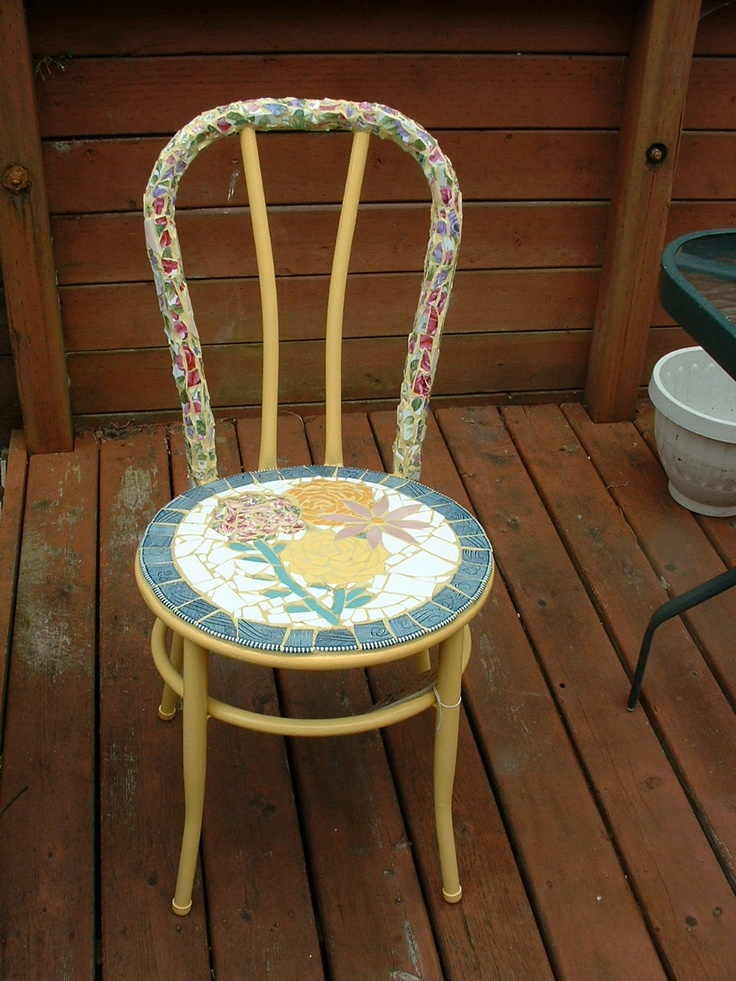 The Seat Of This Chair Is The Outer Portion Of Several Currier And Ives  Plates.