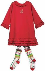 Love the Christmas tights and dress!