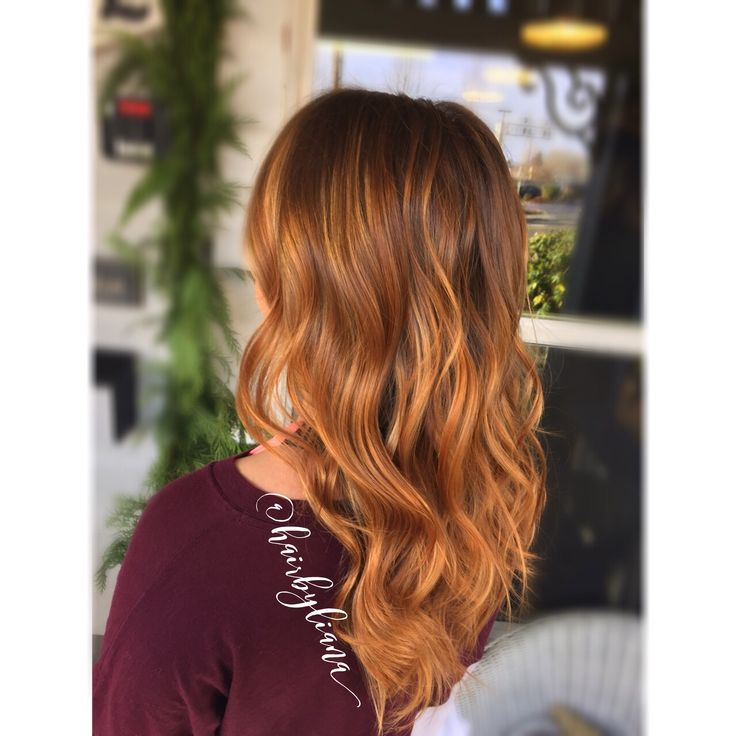 45 best copper and blonde highlights brunettes images on pinterest cooper hair with strawberry blonde balayage highlights long hair with soft waves pretty natural pmusecretfo Image collections