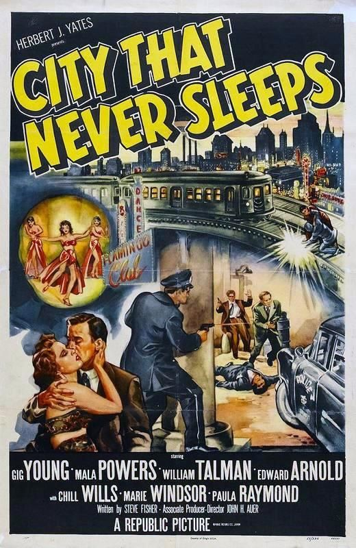 City That Never Sleeps;1953; movie poster: Movie Posters, Cities Art, Sleep 1953, Noir Posters, The Cities, Noir Movie, Film Posters, Film Noir, Movieposterdiskbook Covers