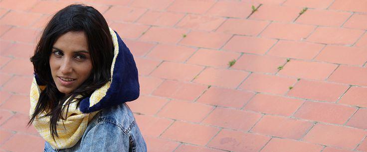 Ara Bleu Hooded scarf!!  http://cachetoi-bcn.com/en/home/23-ara-bleu.html#