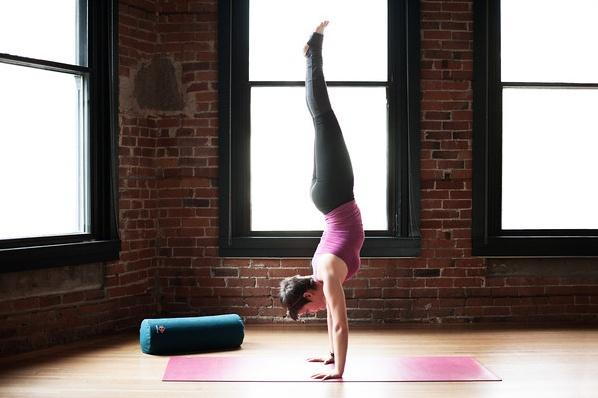 Reach new heights on a Studio PRO Yoga Mat