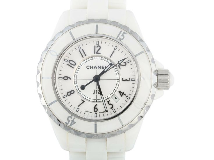 Chanel White Ceramic J-12 Watch