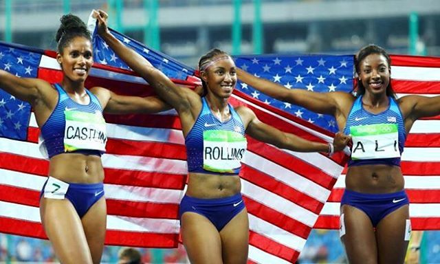 TBT to when the US captured all 3 medals in the 100m hurdles. What's been your favorite Olympic moment in Rio? #rio #Olympics #athletictraining #athlete #athleticperformance #sprinters #hurdles