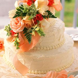 Fresh Orange Wedding Cake | MyRecipes.com --- I'm not pining for a wedding day in my future, I want this as my Birthday Cake!! ;-)
