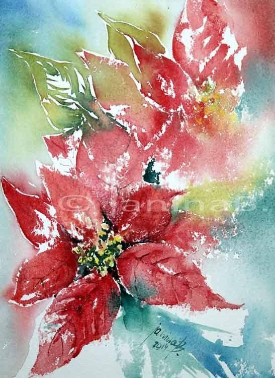 69 besten my artist janina b bilder auf pinterest aquarelltechnik wasserfarben und - Aquarell weihnachten ...
