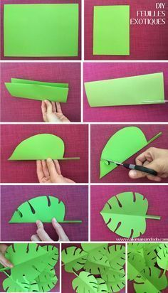 Graphic Mobile Party Decoration      diy exotic leaf folding vaiana #diypartydec…