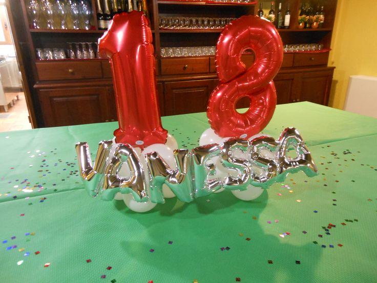 Centrotavola 18° compleanno