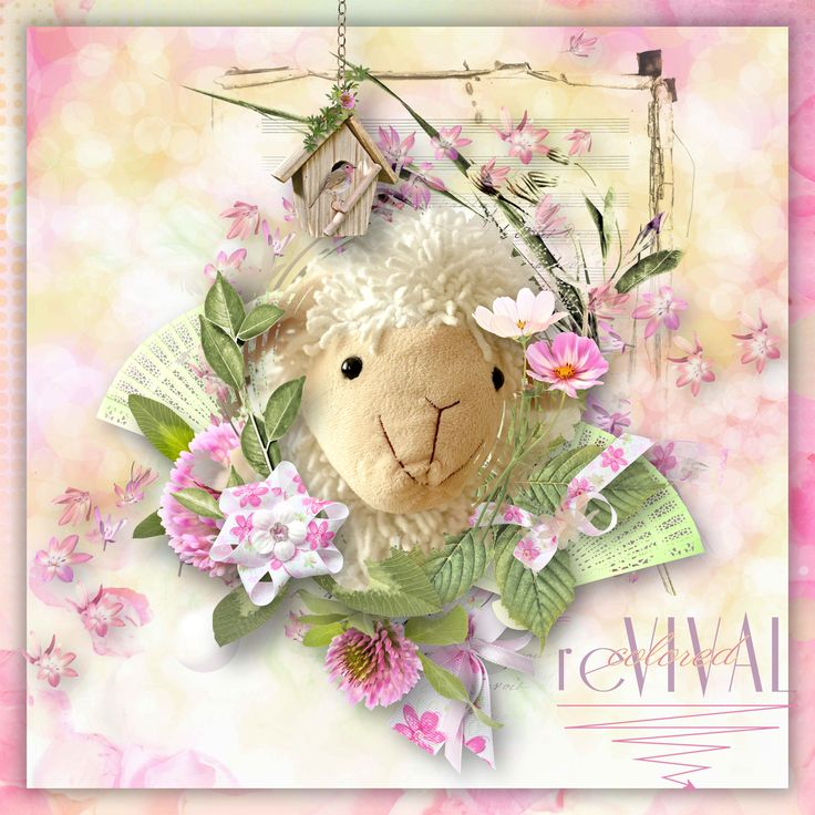"""""""Spring Spirit"""" by Doudou's Design, http://www.mymemories.com/store/display_product_page?id=DDGG-BP-1703-122498, http://www.oscraps.com/shop/Spring-Spirit-Collection.html, photo Pixabay"""