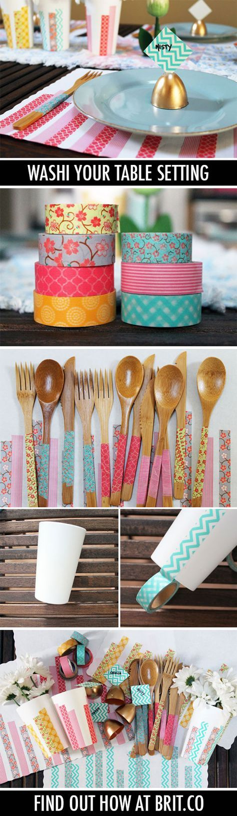 Washi Your Table: 4 Quick Projects for Sunday Brunch | Brit + Co.
