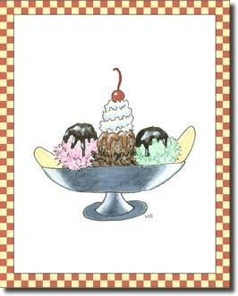 Ice Cream Parlor IV Art Print at Posters2Prints.com