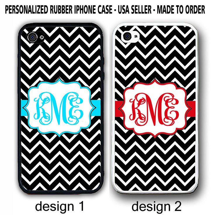 PERSONALIZED BLUE RED BLACK WHITE CHEVRON MONOGRAM CASE FOR IPHONE 6S 6 6+ SE 5S #UnbrandedGeneric