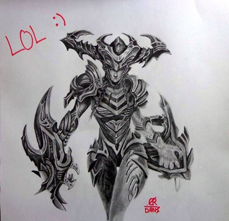 11 best images about League of Legends drawing champions ...