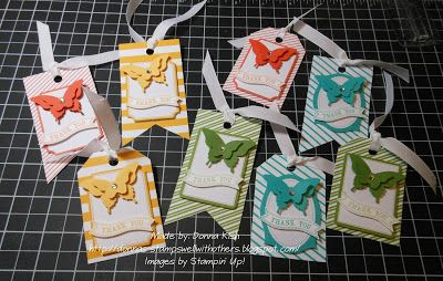 Tag a Bag Accessory Kit from Stampin Up- love it! Everything you need to make adorable bags & tags!