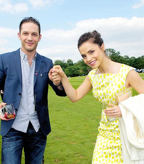 """ Tom Hardy & Charlotte Riley being too precious for words at the Audi Polo Challenge (1 June 2014) """