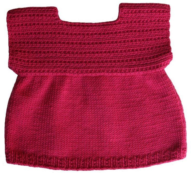 Blouse bébé tailles : 3/6/12/12 mois Niveau de tricot : facile