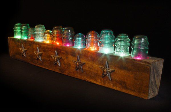 Vintage Glass Insulator Crafts are so cool! Several more ideas shared. Go back & check out what's been made with them.