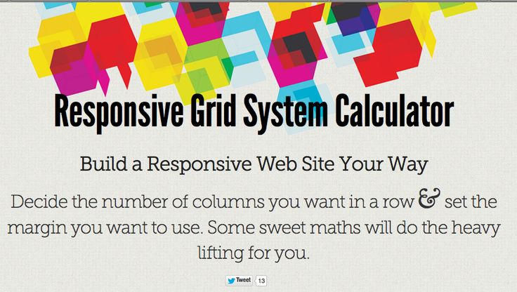 Responsive Grid System Calculator