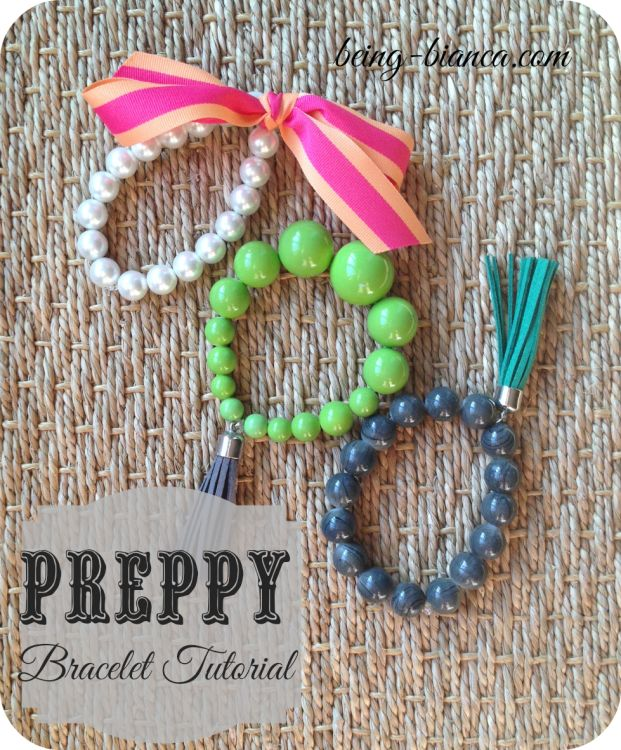 Easy Jewelry Accessory DIY (((for people that aren't jewelry makers!))).  These cute bracelets are an inexpensive and perfectly prepped addition to your outfit!