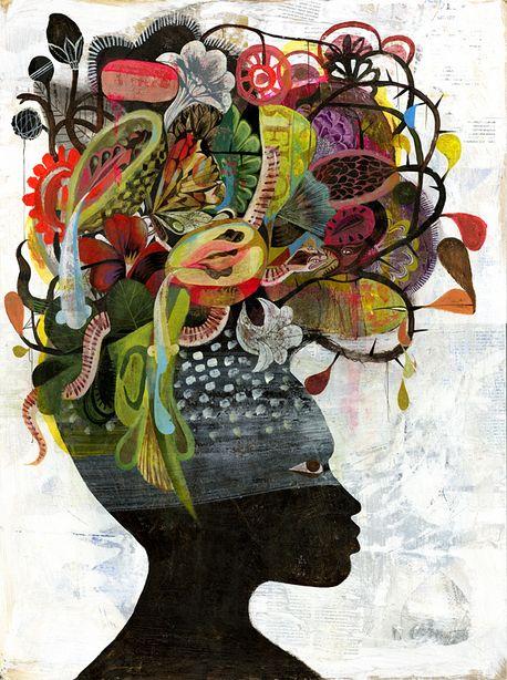 african.beauty, Black Antoinette by Olaf Hajek