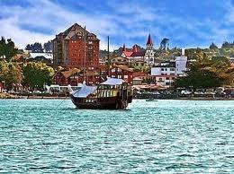 Puerto Varas harbor, southern Chile.