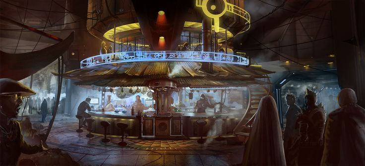 """""""Come in, have a drink.  The others will be here soon.""""  (Future Bar by DrawingNightmare on DA)"""