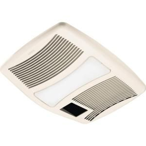 Ultra silent 110 cfm ceiling exhaust fan with light and heater qtxn110hl at the home depot - Bathroom fans at home depot ...