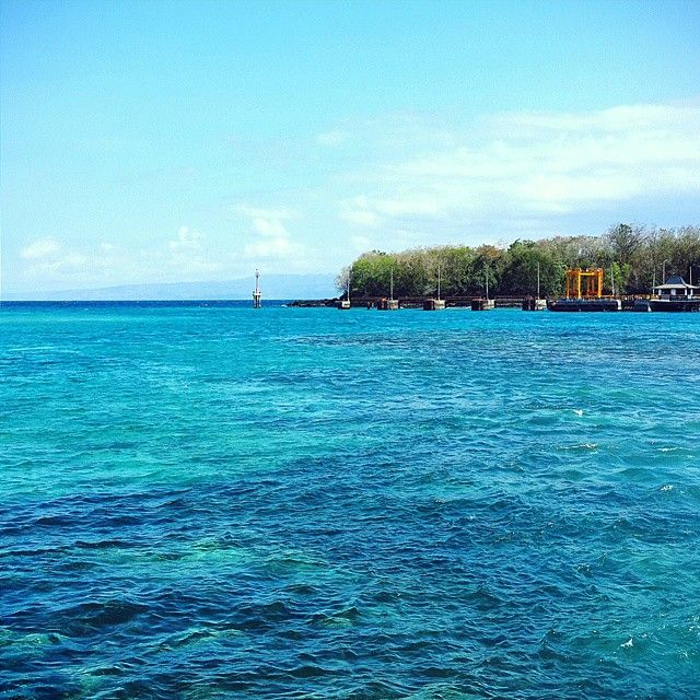 Beautiful view from #PadangBai Harbour. The water is soo blueee :)  #Bali #Holiday #2014