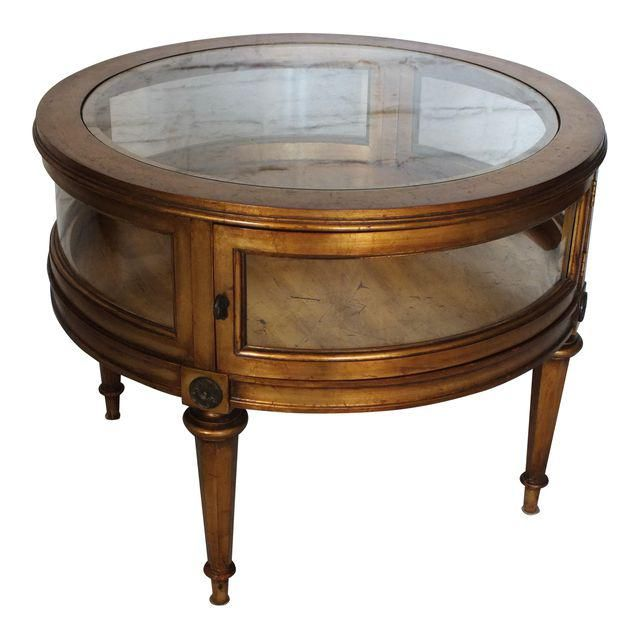 Vintage Weiman Gilded Round Vitrine Curio Table SOLD · Accent PiecesVintage  FurnitureShowcases