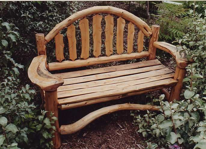 rustic modern outdoor garden bench | Pin by Jan Williams on For the Home | Rustic outdoor ...