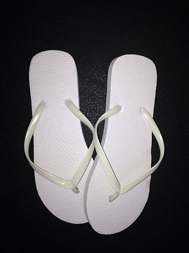 New Wholesale Lot 36 Pairs Ladies Solid White Flip Flops | eBay
