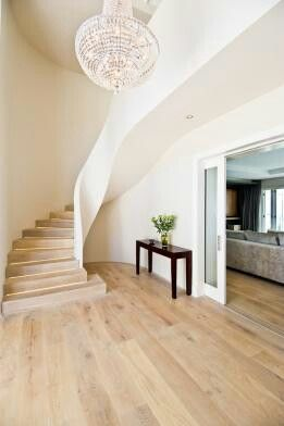 Beautiful staircase with LED detail, Engineered Oak fitted throughout this family home in Steenberg